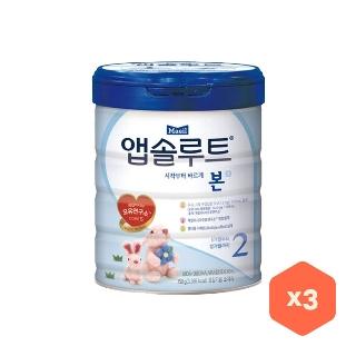 [슈퍼마트] 매일 앱솔루트 본 가루분유 2단계 750gx3캔