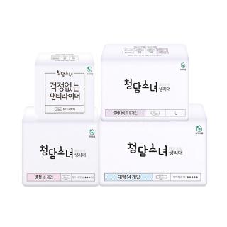 [티몬균일가] 청담소녀 생리대 오버나이트 8P X2팩 외 3종