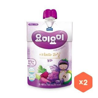 [슈퍼마트] 요미요미 보라야채와 과일 100ml*2