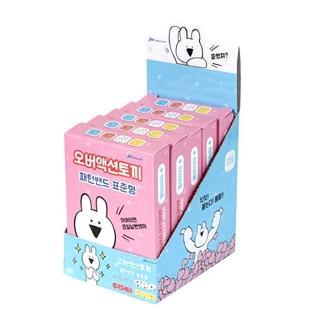 [슈퍼마트]오버액션토끼 패턴밴드 핑크 16매*5입