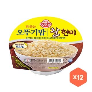 오뚜기밥  찰현미 210g 12개