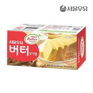 [슈퍼마트] 서울우유 무가염 버터 450g