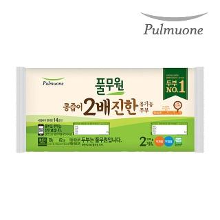 [슈퍼마트] 풀무원 콩즙이 2배 진한 유기농 두부 580g