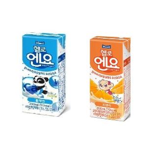 [매일유업] 헬로엔요 200ml x 24개 플레인 오렌지 멀티비타민과 칼슘이 함유된