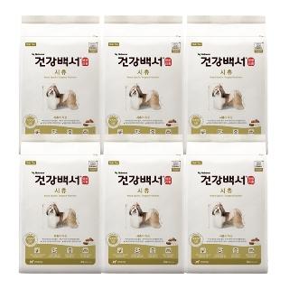 [대용량] 건강백서 시츄 2kg X6개X1박스