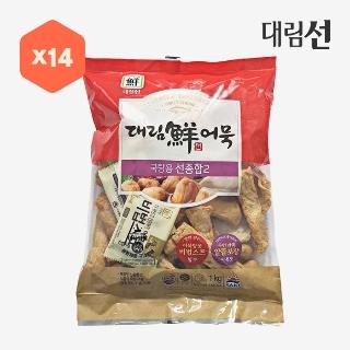 [대용량]대림선어묵 국탕용 선종합2 1kg×14입