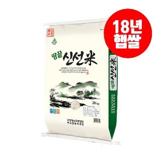 [슈퍼마트] 신선미 해남 땅끝 쌀 20kg 현미