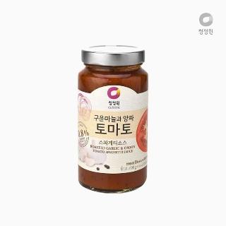 [슈퍼마트] 청정원 구운마늘과 양파 토마토 스파게티소스 600g (4인분)
