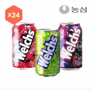 [슈퍼마트] 웰치스 3종 355ml*24캔