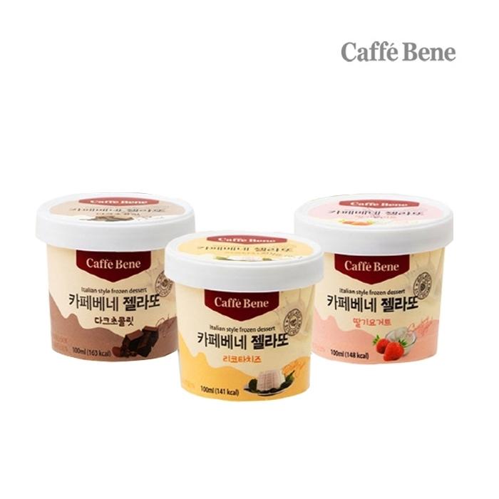 [무료배송] 카페베네 젤라또 아이스크림 7통 골라담기 /초코+딸기+리코타치즈