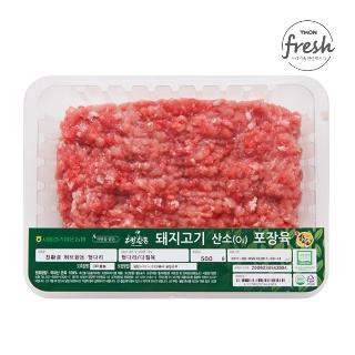 [슈퍼마트]냉장 농협허브한돈 뒷다리 500g1등급 암퇘지 (다짐육)