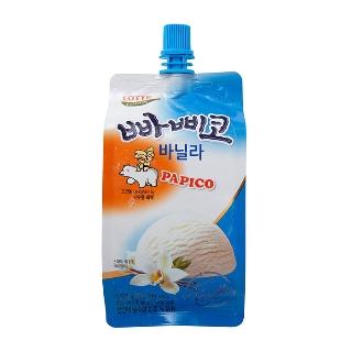 [슈퍼마트] 롯데푸드 빠삐코 바닐라 파우치 150ml x 5 1+1