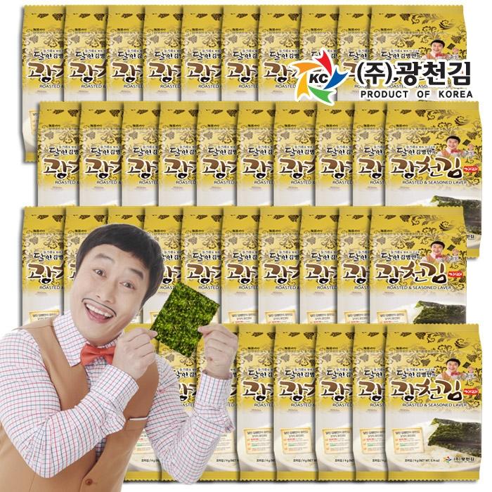 [티몬균일가] 광천김 달인 김병만의 도시락김 40봉