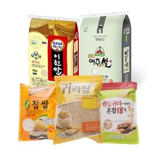 [슈퍼마트] 이천,여주쌀 4kg 외 쌀잡곡 모음
