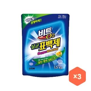 [티몬균일가] 비트 O2 살균표백제 1.2kg x3개