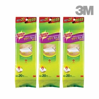 [티몬균일가] 3M 표준형 정전기 청소포 180매+60매