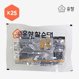 [대용량]유창 슬라이스 찰순대 400g×25입