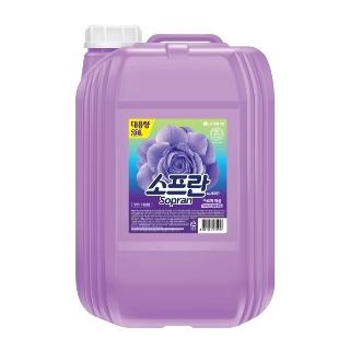 [티몬균일가] 소프란 섬유유연제 바이올렛 용기 20L