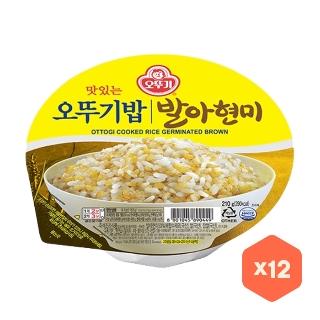 오뚜기밥 발아현미 210g 12개