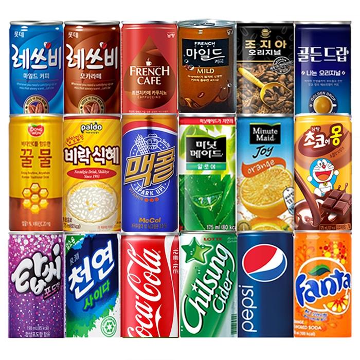 [인기음료] 코카콜라 외 미니캔 60여종 모음전