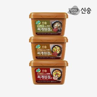 [슈퍼마트]신송 찌개된장 500g1+1 (청양고추/소고기/멸치)