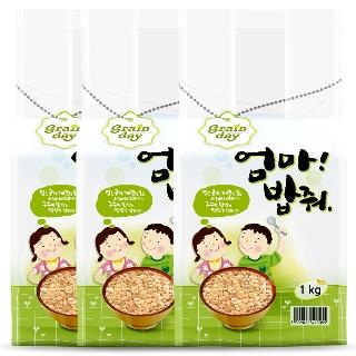 [무료배송] 현미 3kg(1kg x 3개)